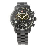 【62%OFF】Commando Chronograph ラウンド クロノグラフ デイト ウォッチ ブラック×ブラック・イエロー×ブラック ファッション > 腕時計~~メンズ 腕時計