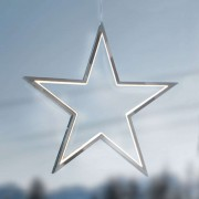 Chrome-plated aluminium - LED star Lucy 34 cm