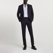river island Mens Navy stretch skinny suit trousers (30S)