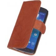 BestCases Bruin Kreukelleer Flipcase Nokia Lumia 800
