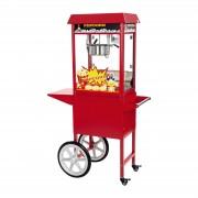 Popcornmaschine mit Wagen - rot
