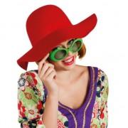 Geen Ronde dames hoed rood