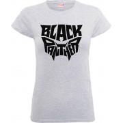 Marvel Camiseta Marvel Black Panther Emblema - Mujer - Gris - L - Gris