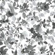 RoomMates Papel pintado para pared, diseño de acuarela, diseño floral, Negro