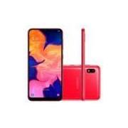Smartphone Samsung Galaxy A10 32GB Dual Chip 4G Tela 6,2 Câmera 13MP Frontal 5MP Android 9.0 Vermelho -