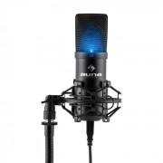 MIC-900B LED USB Microfone Condensador Cardióide Estúdio LED - preto