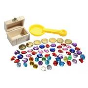 Pirate Buried Treasure Themed Sand Toy with Treasure Chest - Sand Toy Beach Toy Sandbox Toy Wet Sand Sensory Bin