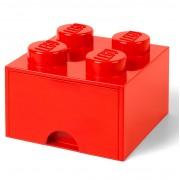 Lego Ladrillo de almacenamiento LEGO (4 espigas) - 1 cajón - Rojo