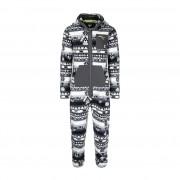 Onepiece Aztec Fleece Jumpsuit Blanc/noir