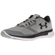 Under Armour Women's UA W Charged Lightning Grey Wolf, White and Rhino Grey Running Shoes - 6.5 UK/India (40.5 EU)