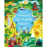 Around The World Mazes, carte Usborne limba engleza
