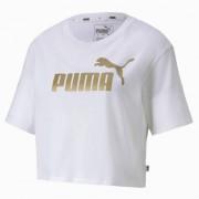 Puma T-Shirt Donna Essential Cropped, Taglia: M, Per adulto Donna, Bianco, 582410 02