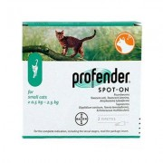 Profender Small Cats & Kittens (0.35 Ml) 2.2-5.5 Lbs 3 + 1 Dose Free