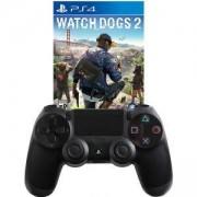 Геймпад - Sony PlayStation DualShock 4 Wireless+Игра Watch Dogs 2 за Playstation 4