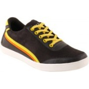 Shoe Island Babop2 Casual Shoes For Men(Black, Yellow, Orange)
