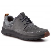 Обувки CLARKS - Aiston Walk 261385097 Dark Grey Nubuck