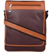 PY Fashion Pu Brown Messenger Bag