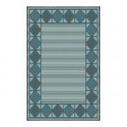 Korhani Lincoln Outdoorteppich 200x265 cm Blau Dunkelgrau Mehrfarbig