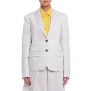 【75%OFF】テーラードジャケット チョーク 32 ファッション > レディースウエア~~ジャケット