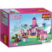 COGO Girls Princess Toy Fairy Dreams Castle Building Toys Blocks for Girls Princess Castle 178 pcs ZY3272