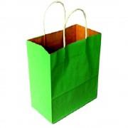 Sacose din Hartie Model Verde Deschis, 25x9.5x30 cm, 100 Buc/Bax, Plase pentru Cadouri