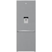Combina frigorifica Beko RCNE560I30DXB, No Frost, 497 L, Compartiment 0°C, Dozator apa, Display touch control, Raft sticle, Congelare/Racire rapida, H 192 cm, A++, Argintiu