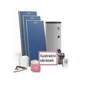 Sestava pro Solární ohřev vody Premium MAXI Plus ALu, 5 kolektorů + 500/2 nádrž. Možnost dotace NZÚ
