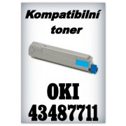 Kompatibilní toner OKI 43487711 - cyan