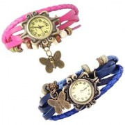 R P S fashion new fancy model to combo pack of 2 girl watch