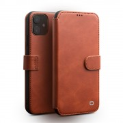 QIALINO Leather Wallet Phone Cover Case for iPhone 11 6.1-inch - Light Brown