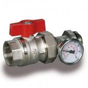 Robinet de trecere rosu cu termostat Luxor VC 471/A 1 tol