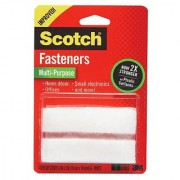 Scotch Multi-Purpose Fasteners White 3/4 x 3 Inch 4 Sets per Pack (RF7030)