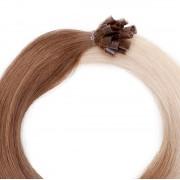 Rapunzel® Extensions Naturali Nail Hair Original Liscio O5.1/10.8 Medium Ash Blond Ombre 50 cm