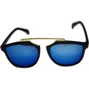 BULL-I Retro Square Sunglasses(Blue)