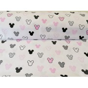 Világosszürke csíkos vékony mohair (gyapjú) textil 140 cm széles