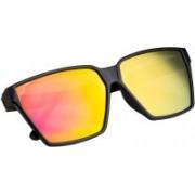 NuVew Rectangular Sunglasses(Golden, Violet)