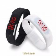 Gumené kreatívne digitálne biele hodinky