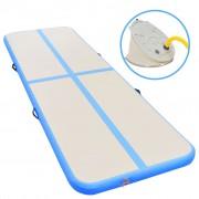 vidaXL Надуваем дюшек за гимнастика с помпа, 500x100x10 см, PVC, син