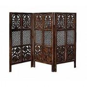 Shilpi Handicrafts Wooden Partition Room Divider in Small Size Leaf Floriferious Design Decor Panel (3)