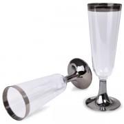 Pahare elegante pentru sampanie la set de 6 pahare unica folosinta