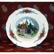 "Lunéville - Sarreguemines Assiette dessert ""Chapelle"" Obernai"