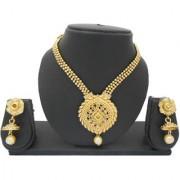 My Design Antique Designer Gold Plated Bridal Necklace Set For Women And Girls