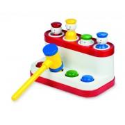 Jucarie POP-UP Prieteni Ambi Toys, stimuleaza activitatea de asociere, 4 figurine