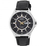 Casio Enticer Analog Black Dial Mens Watch - Mtp-E108L-1Avdf( A967)