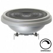 LED lámpa , 12V DC , AR111 , G53 , 12 Watt , meleg fehér , dimmelhető