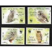 Iran Stamps Owl 4V MNH for Stamp Collecting