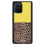 Casimoda Samsung Galaxy S10 Lite hoesje - Luipaard geel
