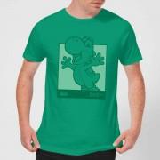 Nintendo Super Mario Yoshi Kanji Line Art Men's T-Shirt - Kelly Green - M - Kelly Green