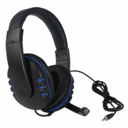 Casti DOBE gaming stereo cu fir si microfon pentru Playstation PS4 / Slim / Pro / Xbox One / Nintendo Switch, negru