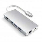 Satechi Redukce / adaptér - Satechi, USB-C Multi-Port Adapter V2 Silver